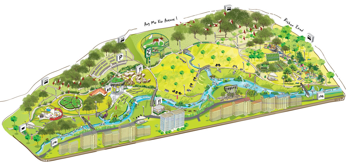 BISHAN PARK ISOMETRIC MAP | JACQUELINE O.